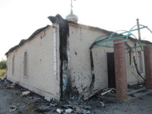 Dans la nuit du 5 au 6 juillet, un projectile incendiaire a percuté le toit d'une église au Donbass