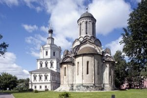 Moscow: a memorial to the victims of the concentration camp at Andronikov Monastery