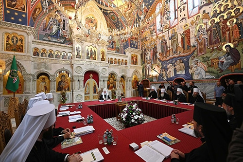 Patriarch Kirill chaired a meeting of the Holy Synod at Valaam Monastery