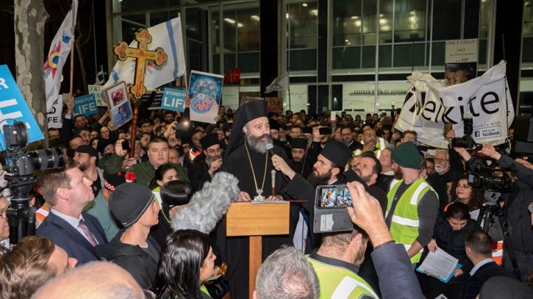 Thousands of orthodox Christians rally against barbaric Australian abortion draft law