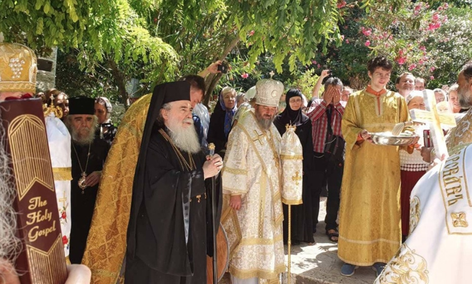 His Beatitude the Patriarch of Jerusalem visits the Russian nunnery of St. Mary Magdalene in Gethsemane