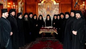 The decisions of the Holy Synod of Ecumenical Patriarchate