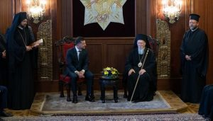 Zelensky promises Patriarch Bartholomew: state won't interfere in church affairs
