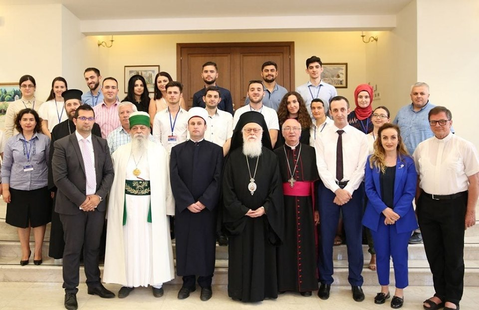 Archbishop of Albania re-elected honorary president of Religions for Peace International