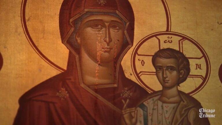 Des larmes sont apparues sur une icône de la Mère de Dieu dans une église grecque de Chicago
