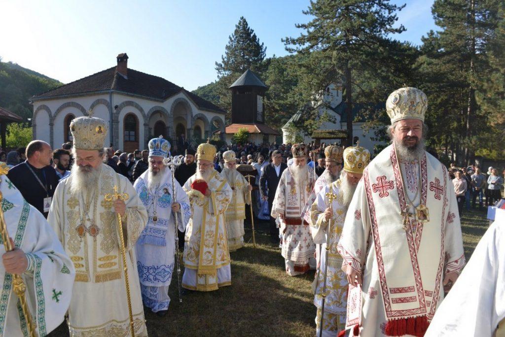 Consécration de l'église Saint-Sava au monastère de Ćelije à l'occasion du jubilé de saint Justin Popović