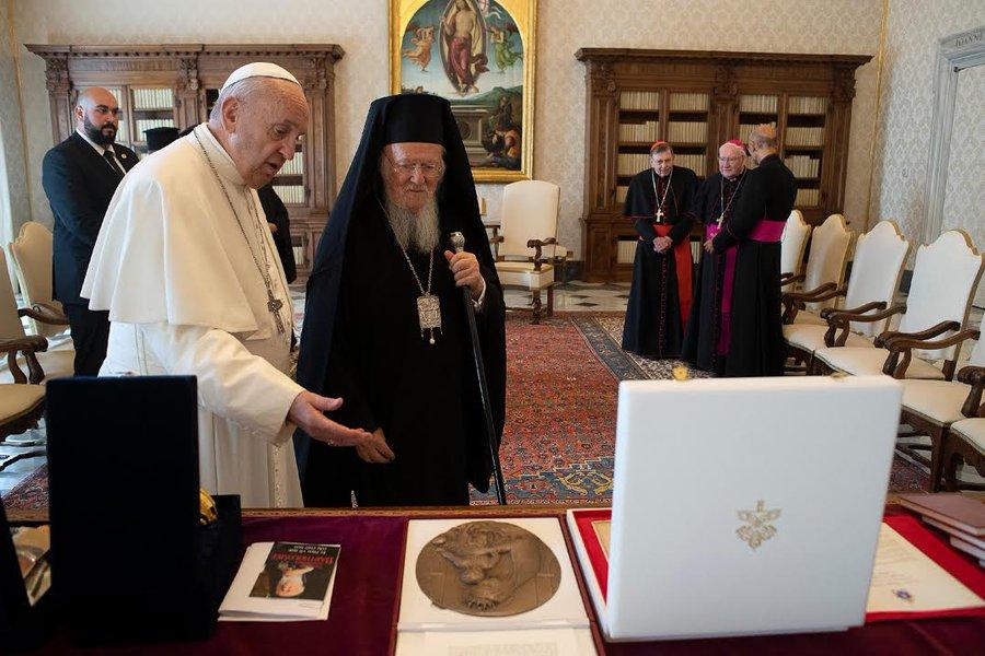 Rencontre au Vatican du pape François et du patriarche Bartholomée