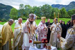 Dédicace de la chapelle du monastère orthodoxe roumain de Suisse