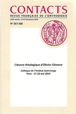 Parution du n°n°267-268 de la revue «Contacts» dédié à l'œuvre théologique d'Olivier Clément (1921-2009)