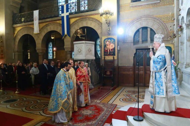 Une doxologie en l'honneur de la fête nationale grecque du 28 octobre et une ordination sacerdotale à Paris