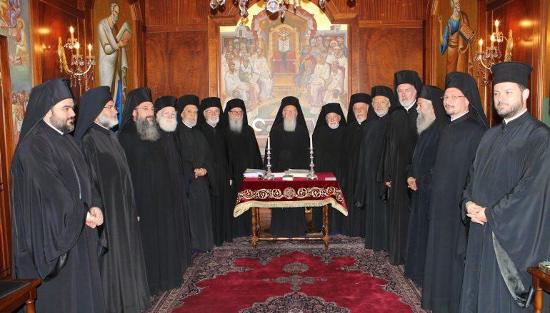 Décisions du Saint-Synode du Patriarcat œcuménique