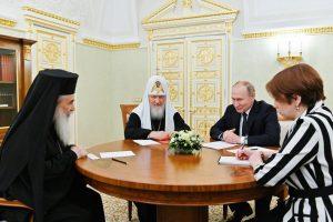 Le président Poutine a rencontré les patriarches de Jérusalem et de Moscou