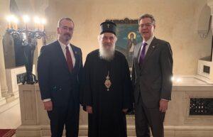 Le patriarche de Serbie a reçu l'ambassadeur des États-Unis pour la liberté religieuse internationale