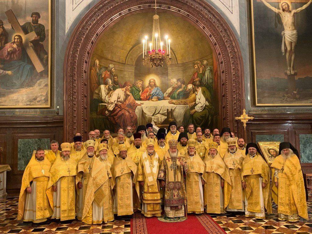 La vidéo de la liturgie célébrée aujourd'hui dans la cathédrale de la Dormition à Moscou