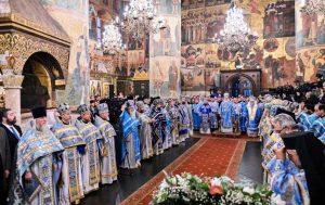 La vidéo de la liturgie célébrée lundi à la cathédrale de la Dormition à Moscou
