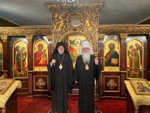 Le métropolite Tikhon (Église orthodoxe en Amérique, OCA) a reçu l'archevêque Elpidophore (archevêché grec d'Amérique)
