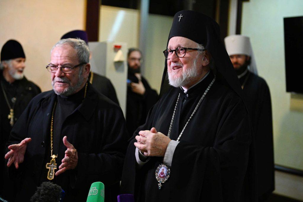 Arrivée à Moscou de la délégation de l'Archevêché des églises orthodoxes russes en Europe occidentale
