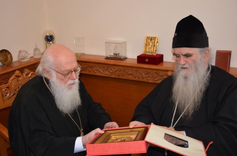Le métropolite du Monténégro et du Littoral Amphiloque a rencontré le primat de l'Église orthodoxe d'Albanie, l'archevêque Anastase