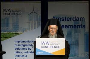 Intervention du patriarche Bartholomée lors de la semaine de l'eau à Amsterdam le 4 novembre 2019