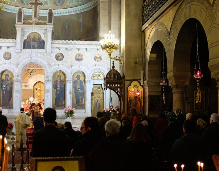 Célébration de la fête onomastique de la cathédrale orthodoxe grecque Saint-Stéphane à Paris