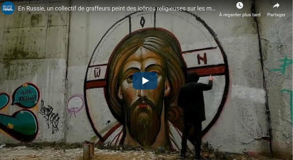 «En Russie, un collectif de graffeurs peint des icônes religieuses sur les murs de Moscou»