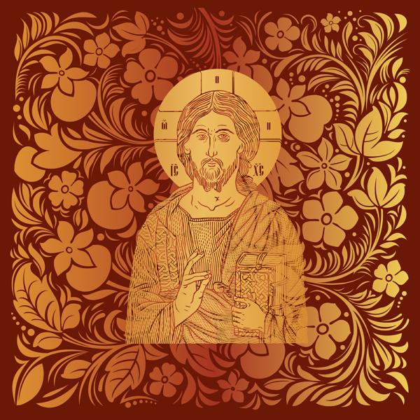 Housse pour ordinateur portable : Christ Sauveur et source de Vie, version rouge