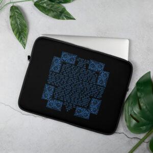 Privé: Housse pour ordinateur portable : Crédo Nicée-Constantinople en anglais (bleu en noir)