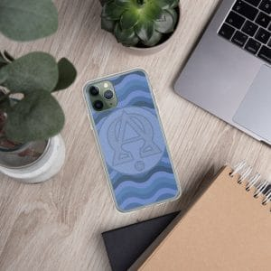 Coque d'iPhone : Alpha et Omega, version bleue