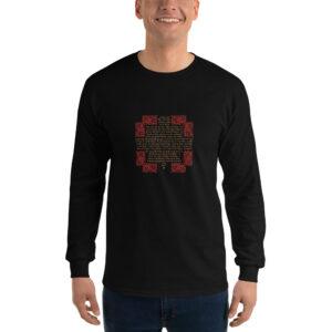 Privé: Chemise à manches longues pour homme : Crédo Nicée-Constantinople en français (or et rouge)