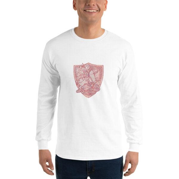 Privé: Chemise à manches longues pour homme : Saint Georges le Tropéophore (blason rouge)