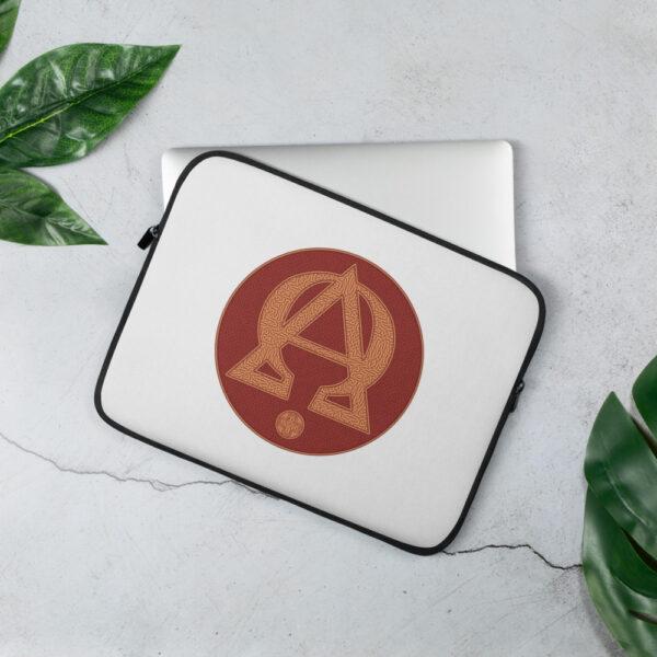 Privé: Housse pour ordinateur portable : Alpha et Omega, version rouge
