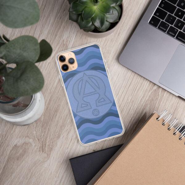 Coque d'iPhone : Alpha et Omega, version bleue