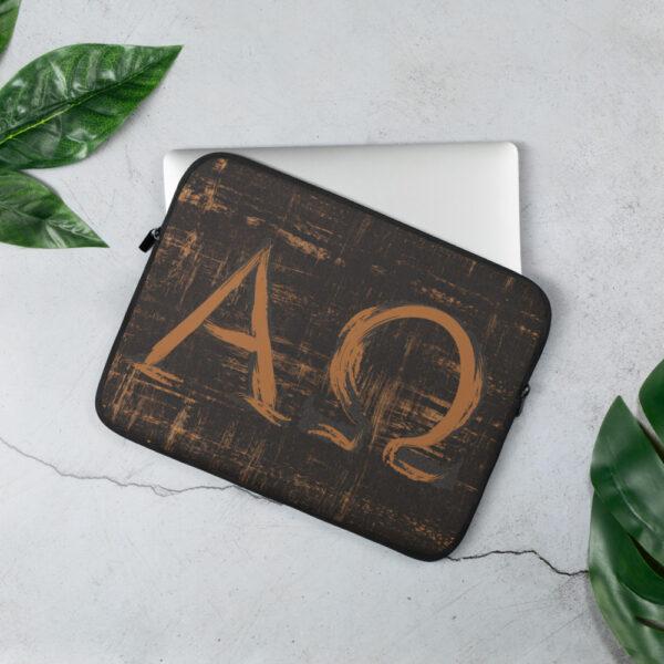 Privé: Housse pour ordinateur portable : Alpha et Omega, version moderne
