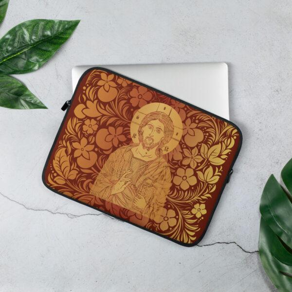 Privé: Housse pour ordinateur portable : Christ Sauveur et source de Vie, version rouge