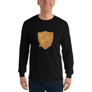 Privé: Chemise à manches longues pour homme : Saint Georges le Tropéophore (or)