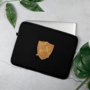 Privé: Housse pour ordinateur portable : Saint Georges le Tropéophore (or)