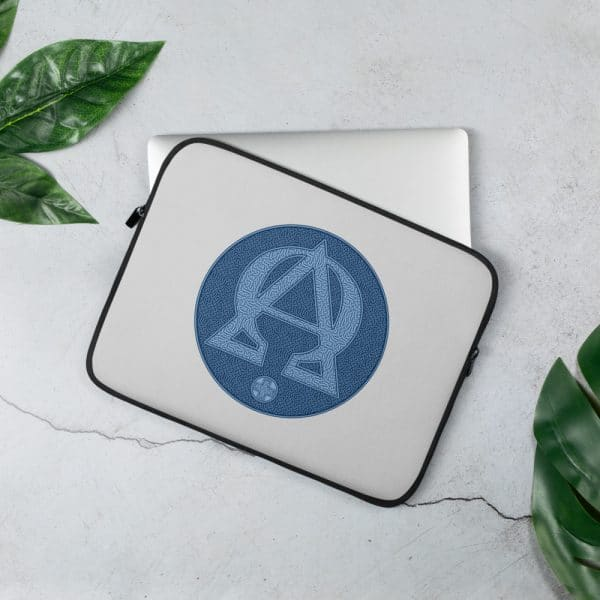 Privé: Housse pour ordinateur portable : Alpha et Omega, version bleue