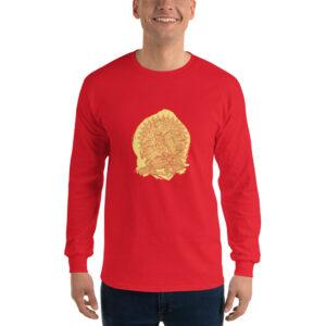 Privé: Chemise à manches longues pour homme : Saint Georges le Tropéophore (jaune)