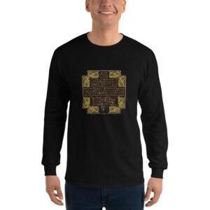 Privé: Chemise à manches longues pour homme : Crédo Nicée-Constantinople en français (or)
