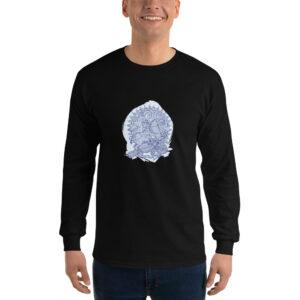 Privé: Chemise à manches longues pour homme : Saint Georges le Tropéophore (bleue)