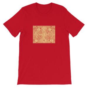 Privé: T-shirt unisexe à manches courtes : La Transfiguration du Christ, version rouge
