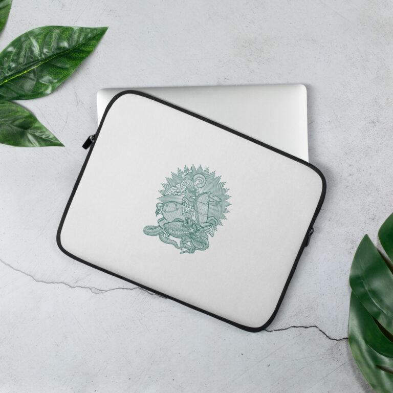 Privé: Housse pour ordinateur portable : Saint Georges le Tropéophore (vert)