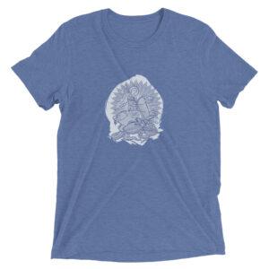 Privé: T-shirt en coton mélangé : Saint Georges le Tropéophore (bleue)