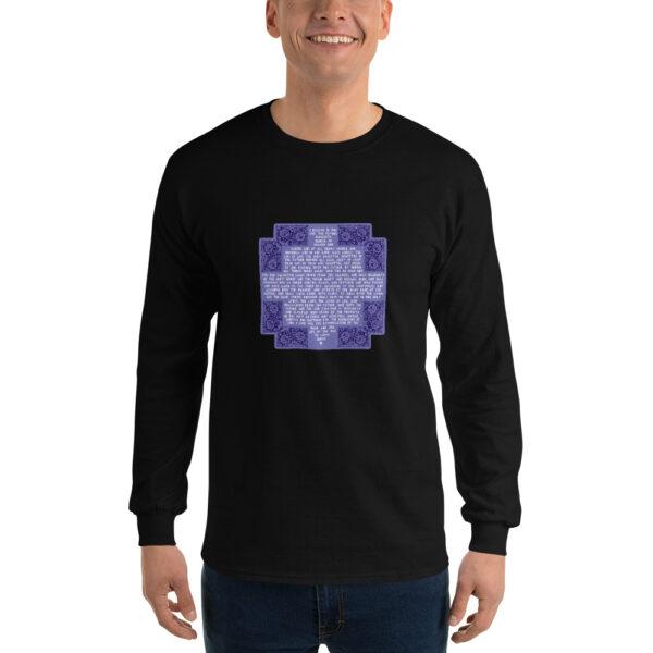 Privé: Chemise à manches longues pour homme : Crédo Nicée-Constantinople en anglais (violette)