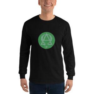 Privé: Chemise à manches longues pour homme : Alpha et Omega, version verte
