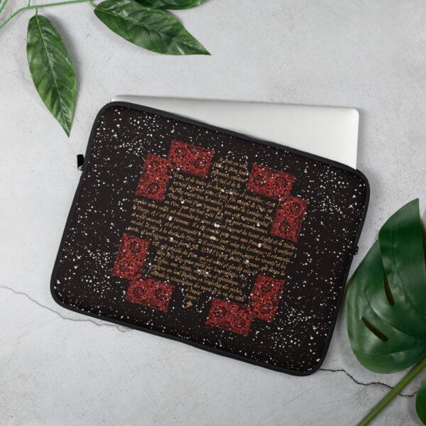Privé: Housse pour ordinateur portable : Crédo Nicée-Constantinople en français (rouge)