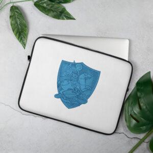 Privé: Housse pour ordinateur portable : Saint Georges le Tropéophore (blason bleu)