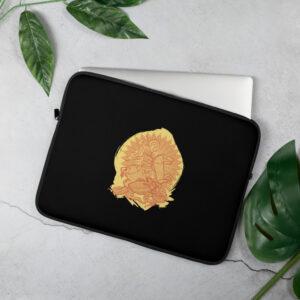 Privé: Housse pour ordinateur portable : Saint Georges le Tropéophore (jaune)