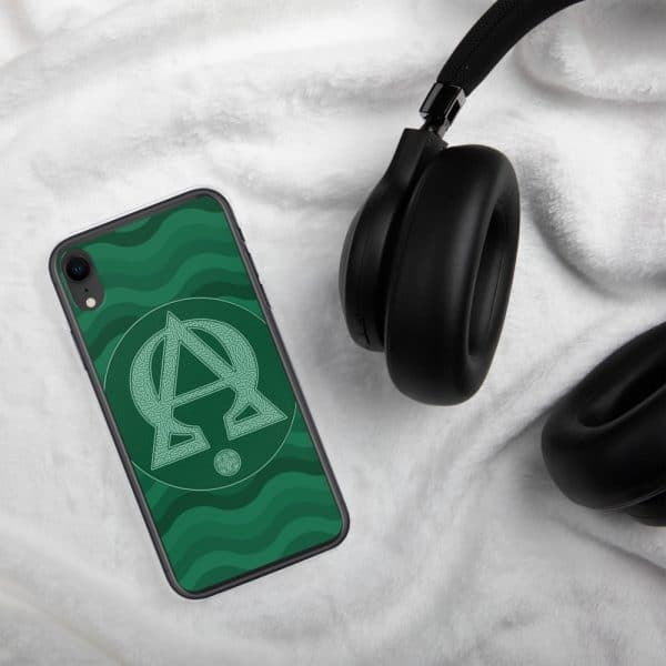 Coque d'iPhone : Alpha et Omega, version verte