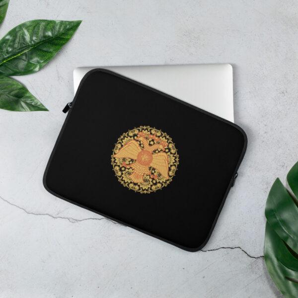 Privé: Housse pour ordinateur portable : aigle à deux têtes, style russe byzantin